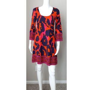 Diane Von Furstenberg DVF silk shift dress